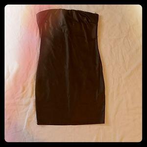 Faux Leather Knit Dress